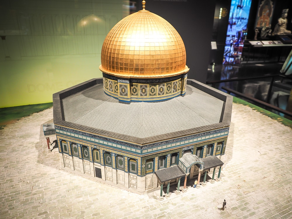 Dome of the Rock miniature at the Museum of World Religions Taipei