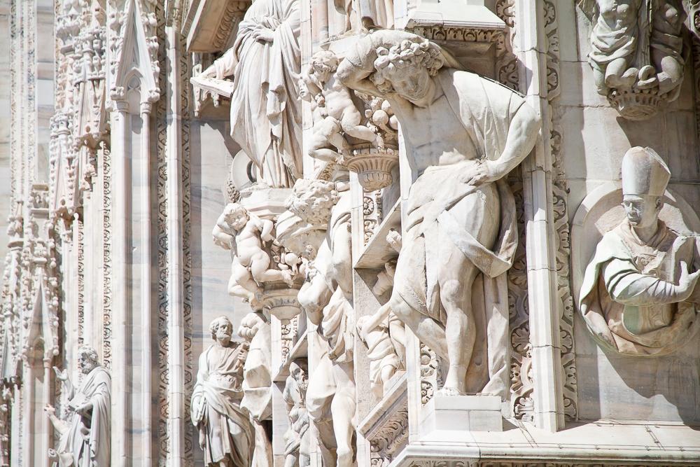 Duomo di Milano reliefs