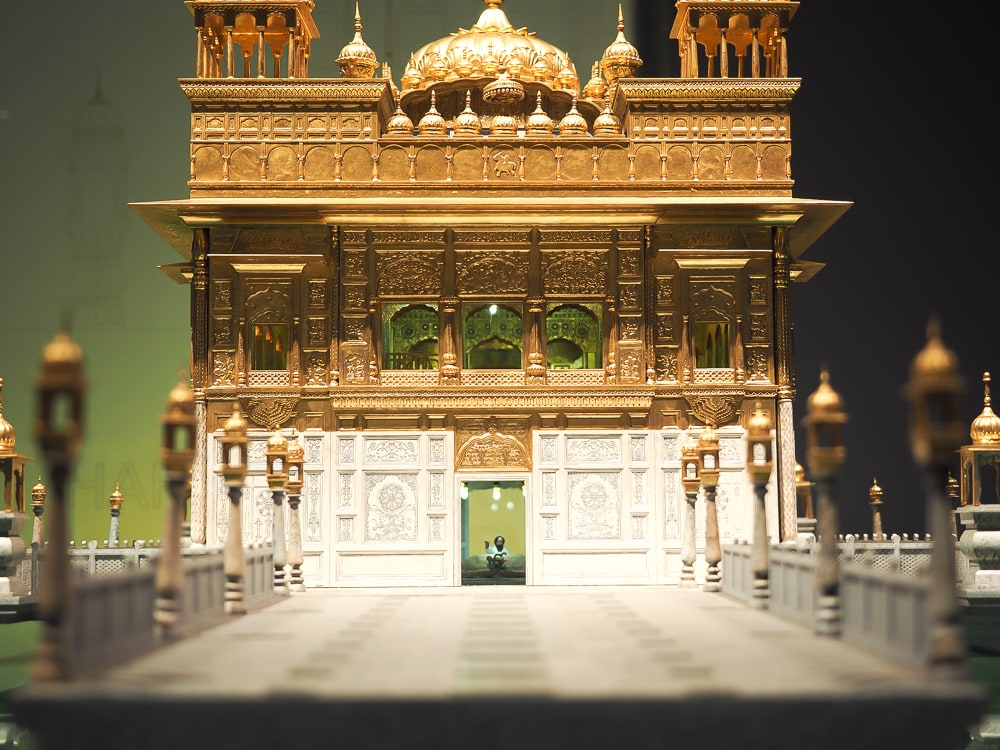 Miniature of the Golden Temple from India at the Museum of World Religions