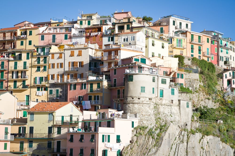 Manarola, Cinque Terre, perfect place for a honeymoon in Italy