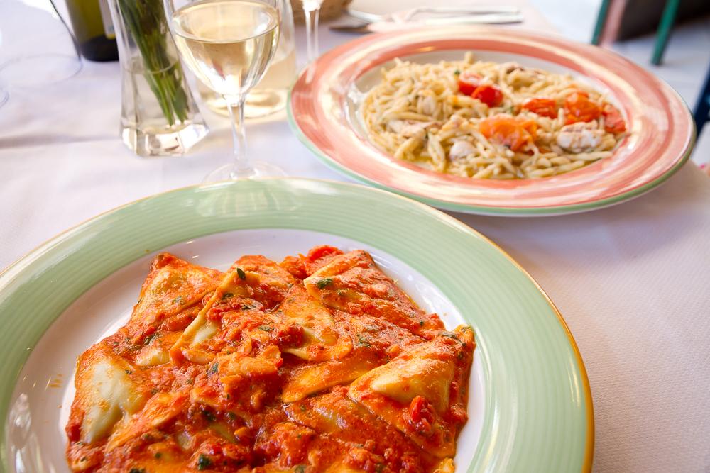 Italian pasta in Cinque Terre