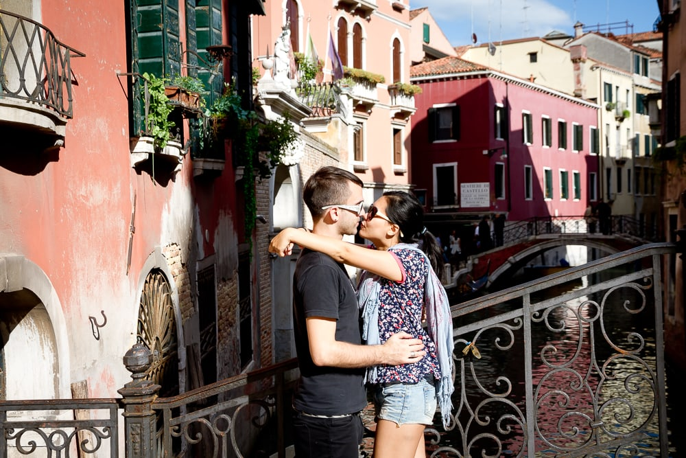 Us kissing on our honeymoon in Italy