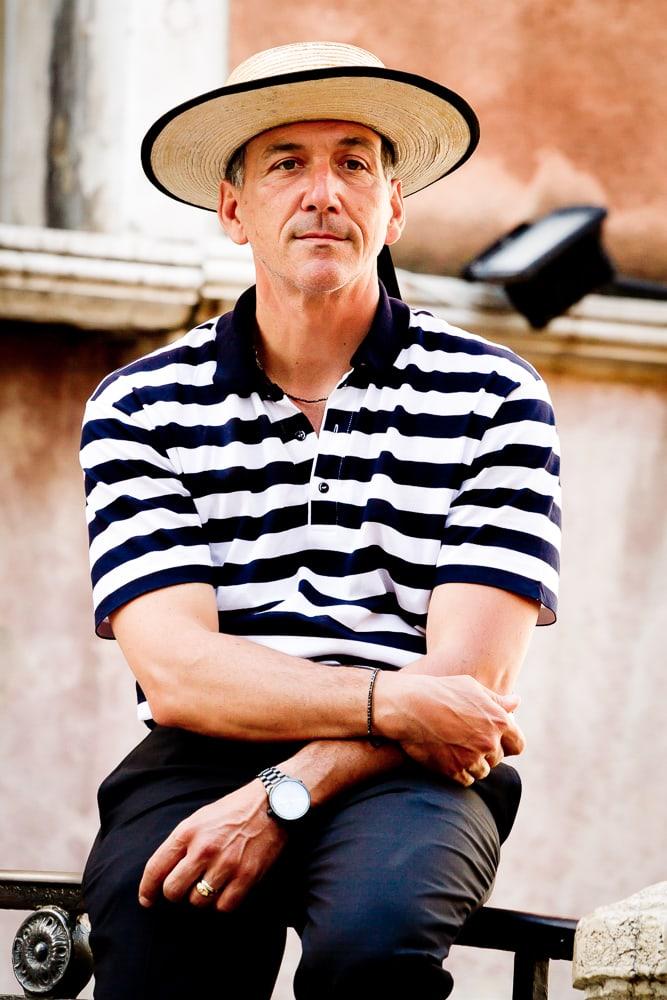 Venice gondola driver