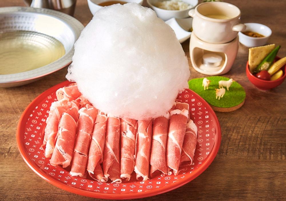 Cotton candy shabu shabu in Akihabara