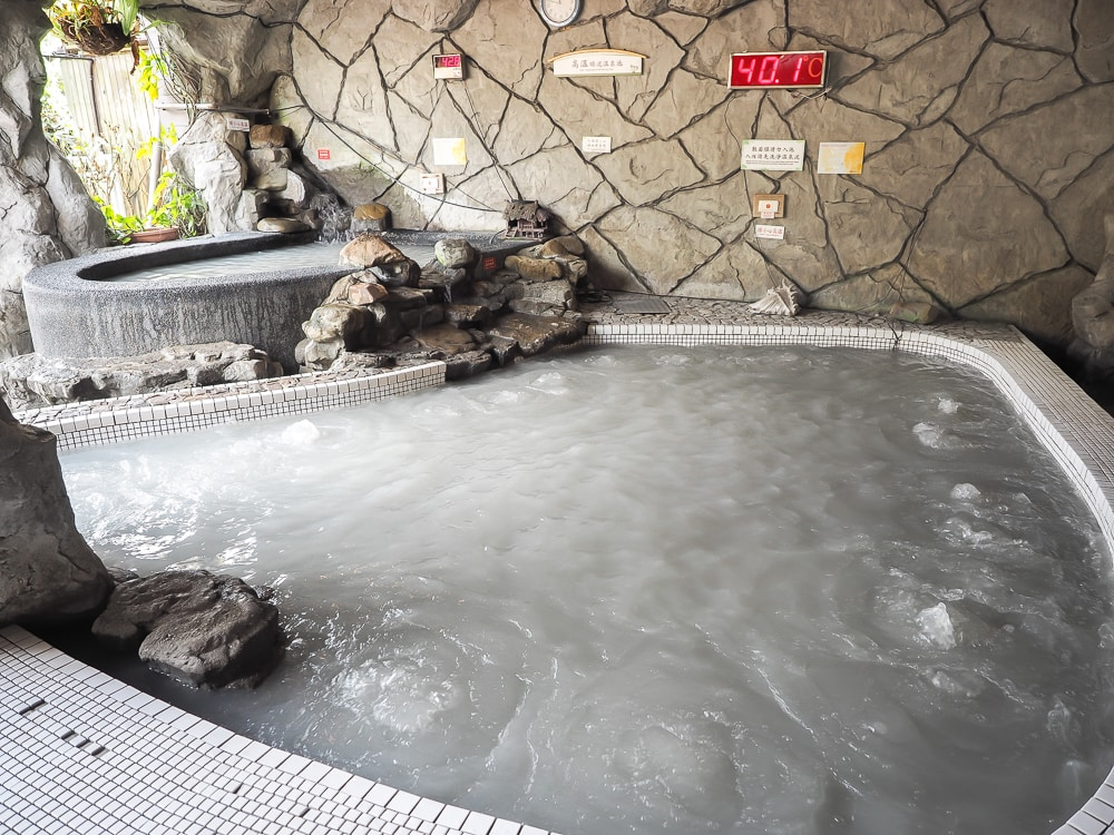 Guanziling mud hot spring, one of the best things to do in Taiwan in January
