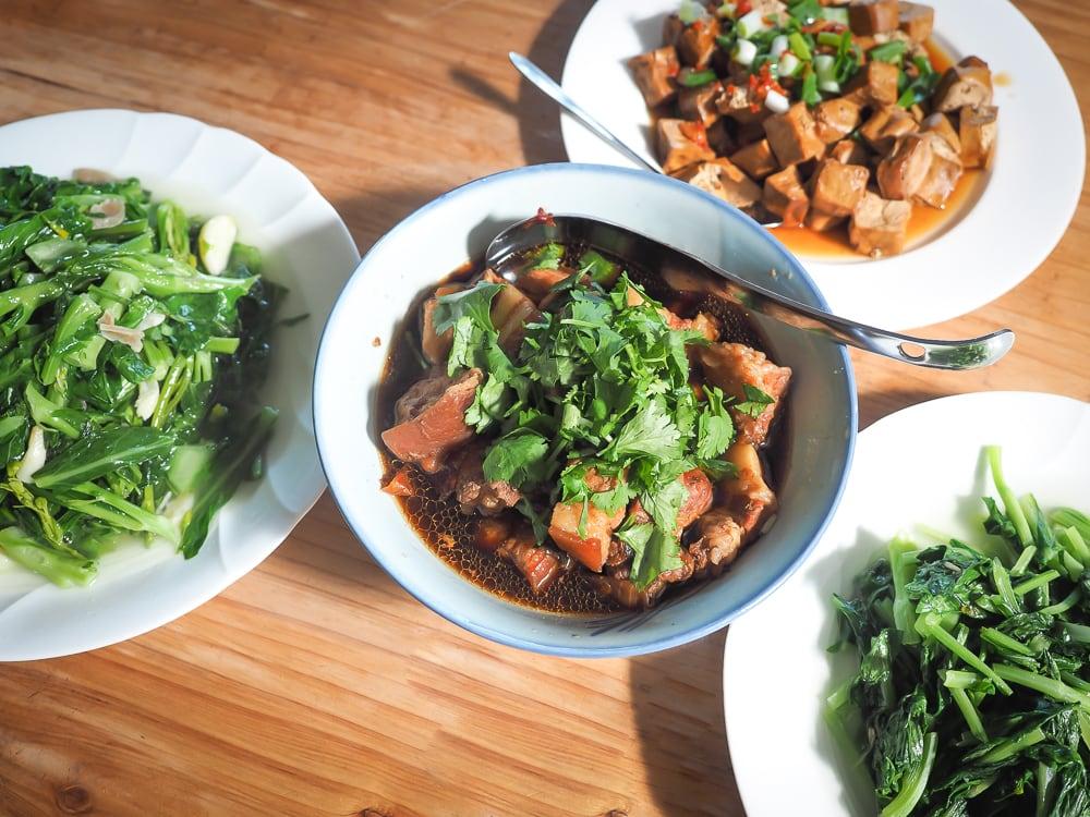 Hakka food in Miaoli Taiwan