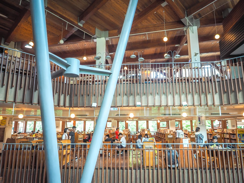 Inside Beitou Library