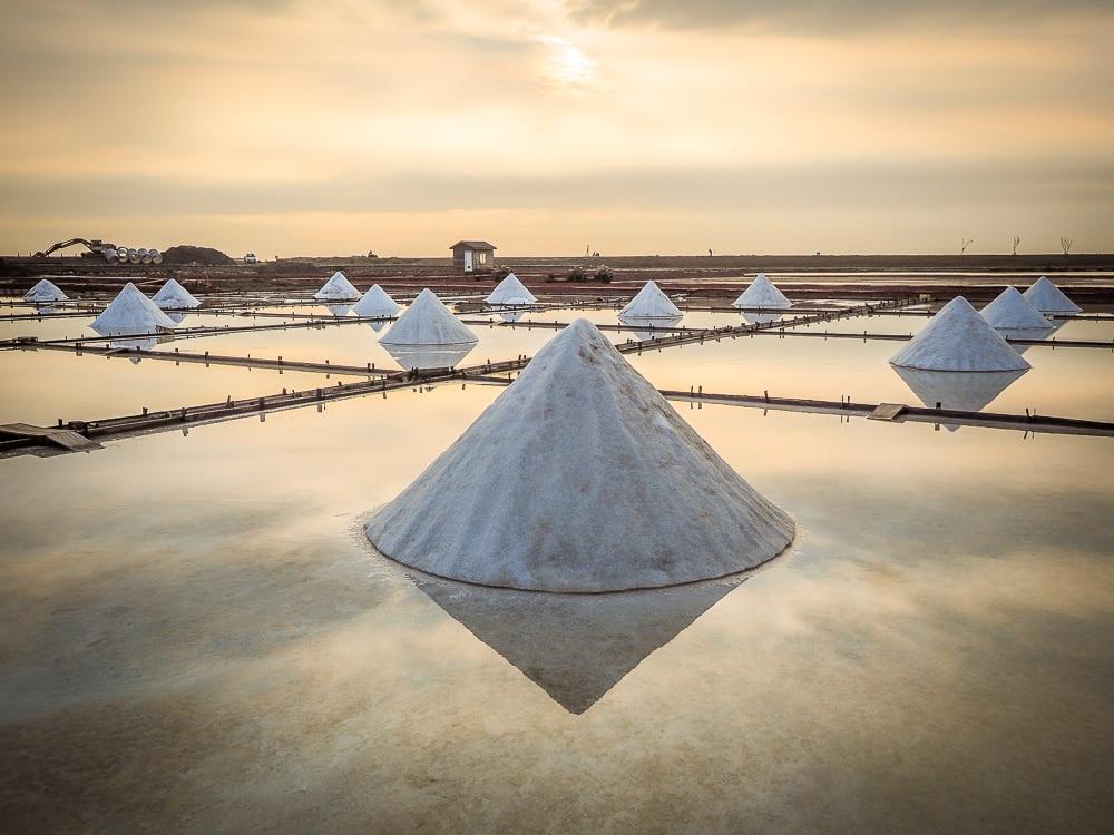 Jingzijiao Wapan Salt Fields, Tainan, Taiwan