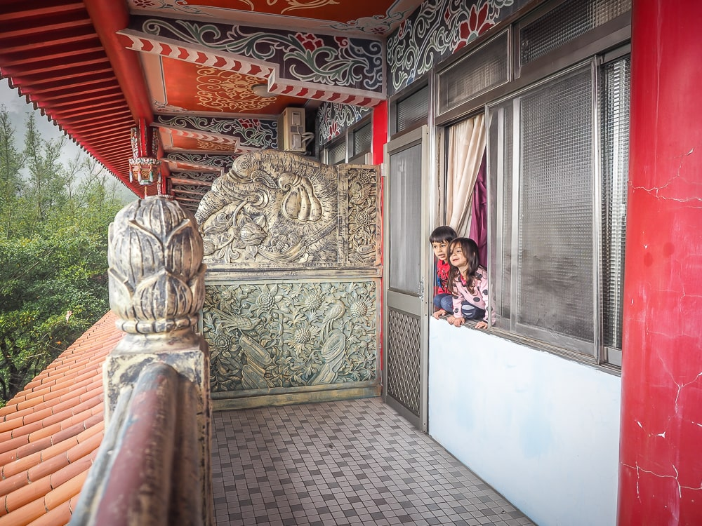 Staying at a temple on Lion's Head Mountain Taiwan