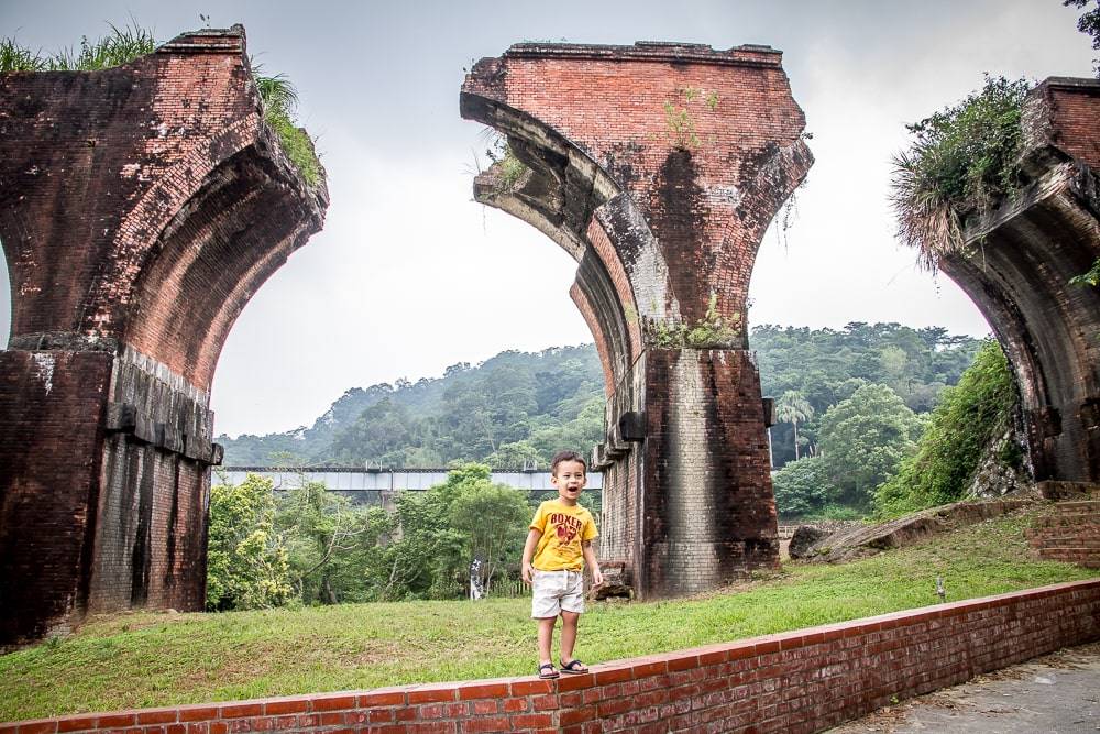 Remains of Longteng Bridge, one of the most famous Miaoli attractions