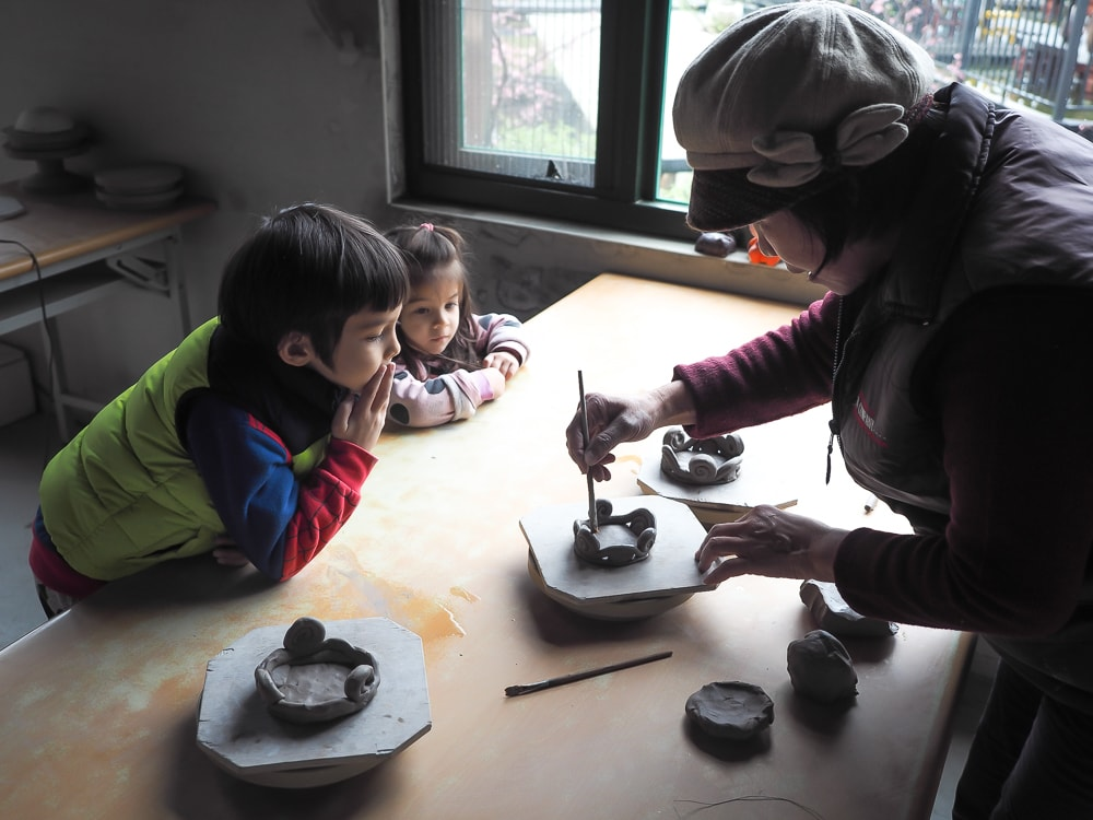 Making pottery in Miaoli, Taiwan