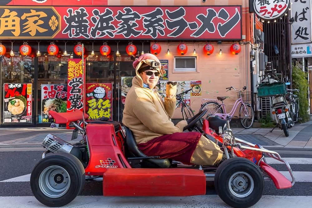 Mario go-karting in Akihabara