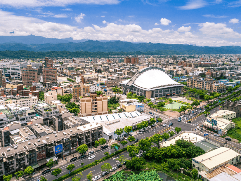 From from above of Miaoli City, Taiwan