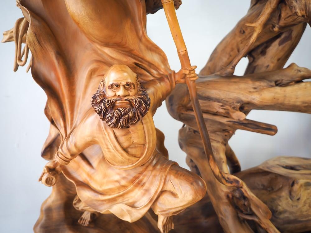 Wood sculptures in Sanyi, Miaoli
