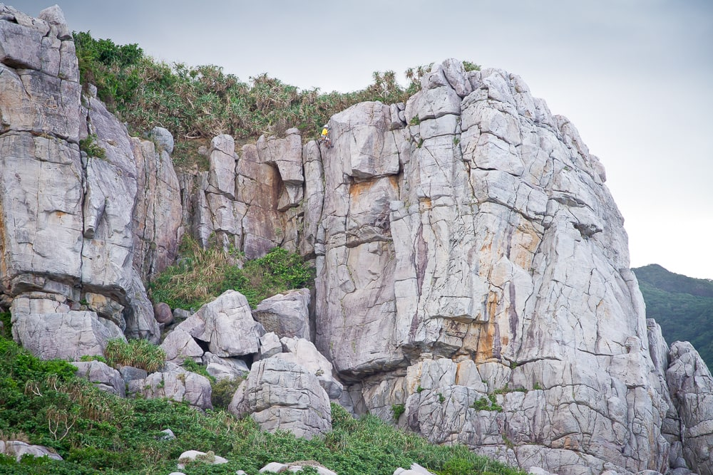 Rock climbing, Longdong, the best place in Taiwan to go rockclimbing