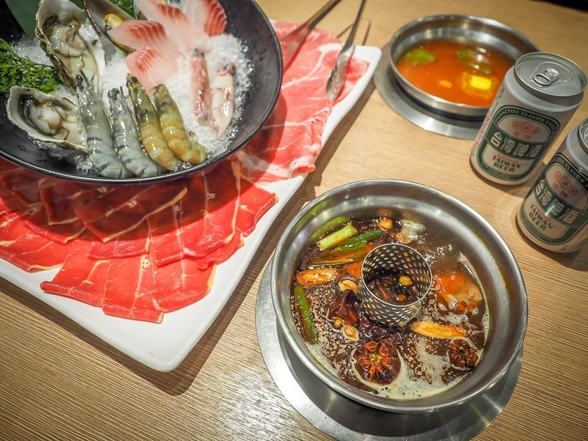 Hot pot in Taipei