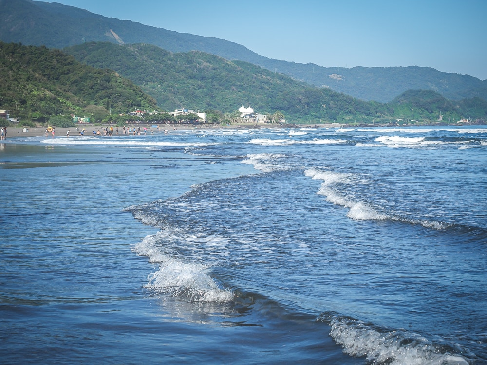 Wai Ao beach, Yilan, Taiwan, which is even possible to visit as a one day trip from Taipei