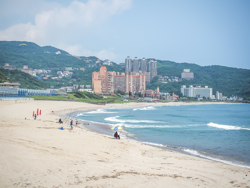 View of Wanli Beach, one of the best beaches in Taiwan