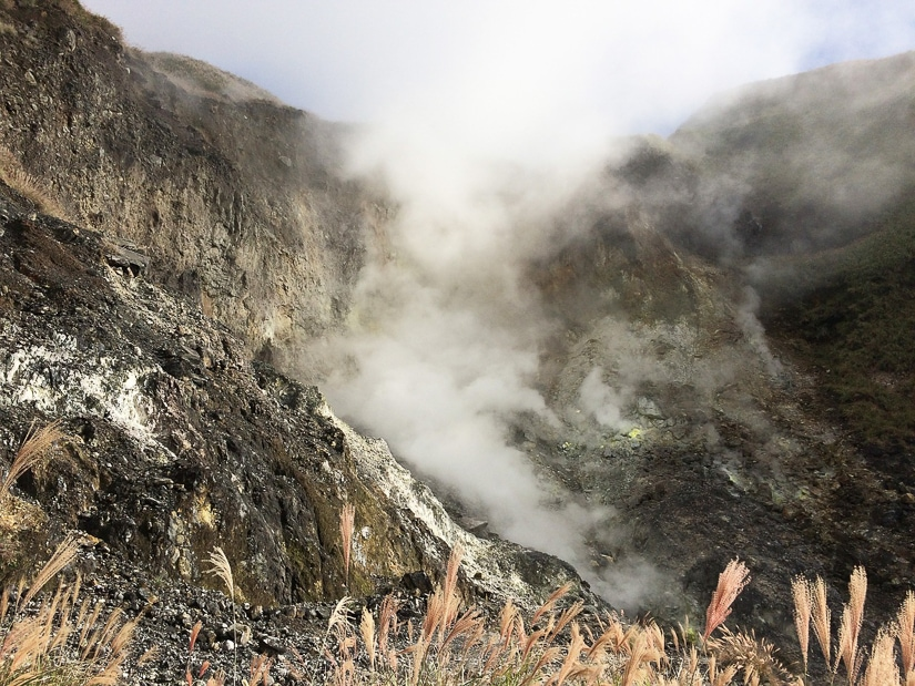 Fumaroles at Yangmingshan in Taipei
