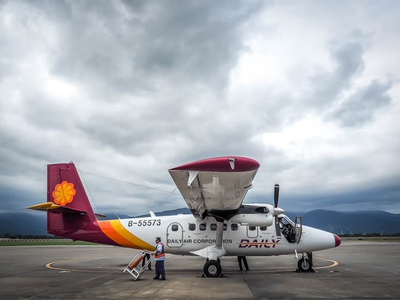 Daily Air flight from Taitung to Orchid Island