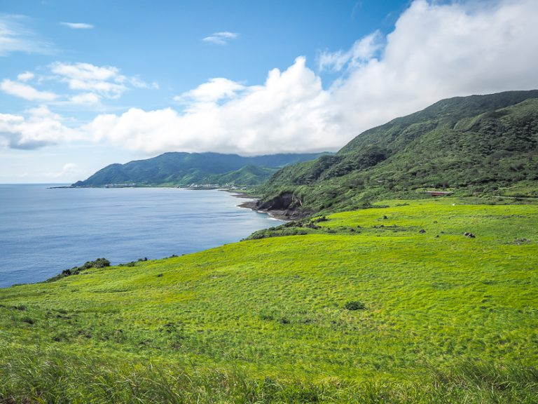 Grassland on Orchid Island, Taiwan in May