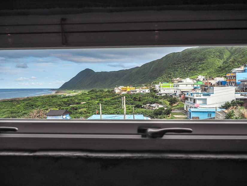 View from room at Lanyu Guesthouse, Orchid Island