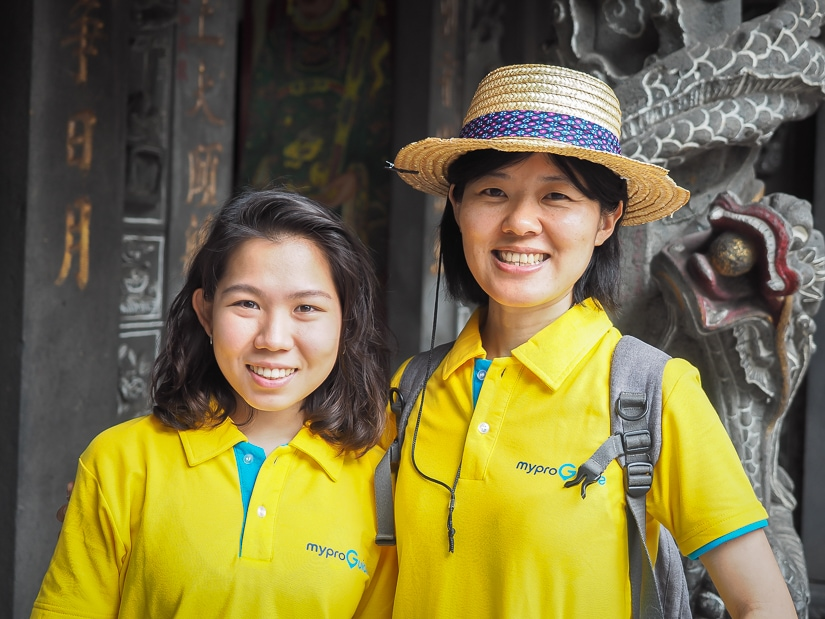 My professional tour guides, Effi and Sylvia of MyProGuide. Let them guide you to the best things to do in Dadaocheng!