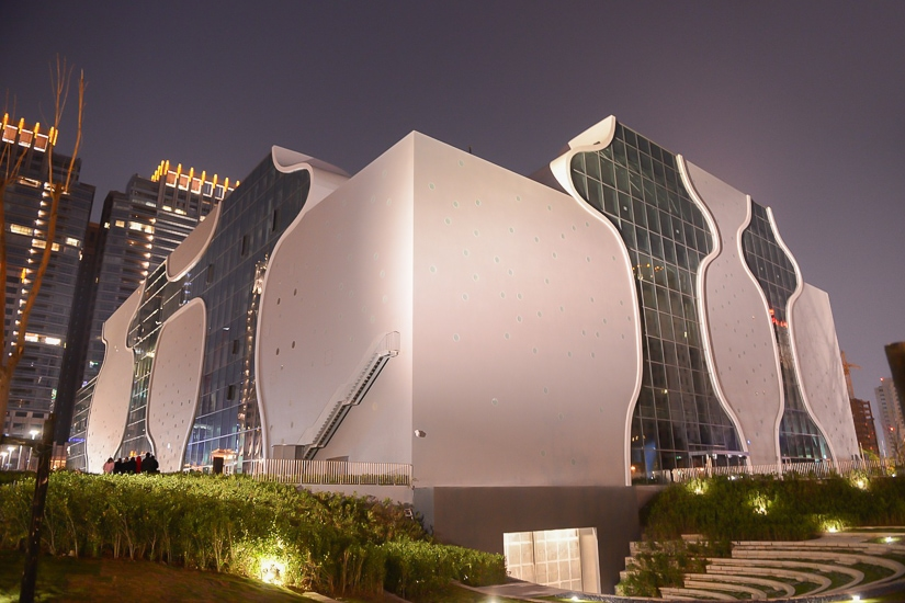 National Taichung Theater at night