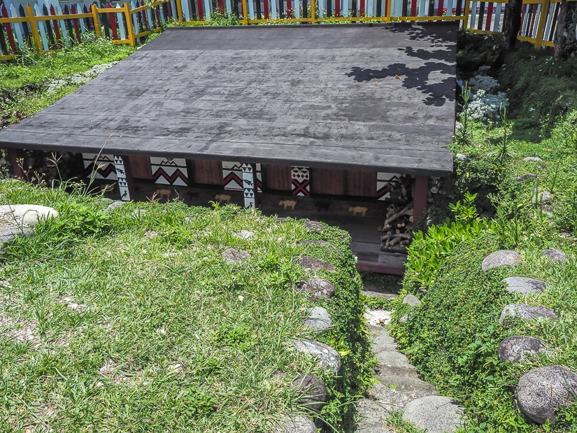 Orchid Island underground house of the Yami people