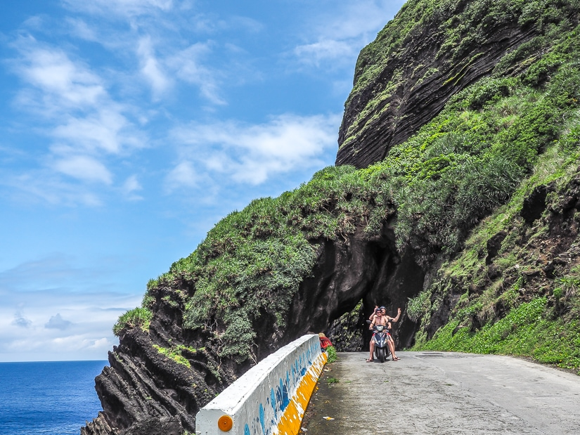Riding a scooter is the best way to get around Lanyu (Orchid Island)