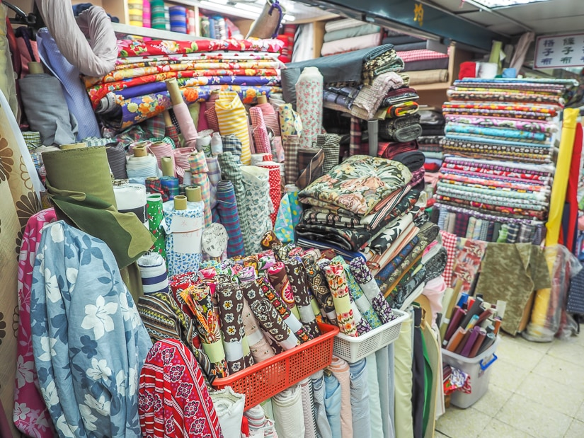 Yongle Fabric Market, Dihua Street, Taipei