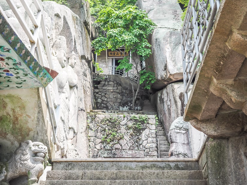 Cliff alcove at Seokbulsa Temple