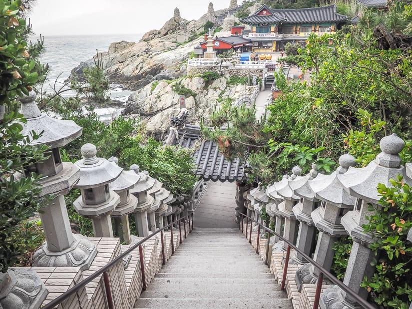 Staircase at Haedong Yonggungsa Temple