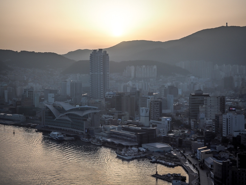 Sunset over Jagalchi Market and Busan