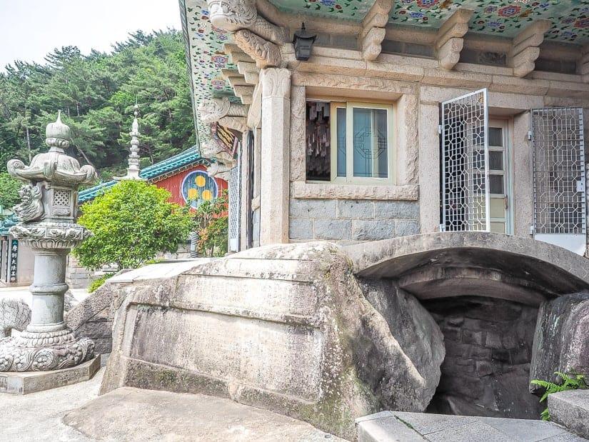 Cave entrance to Main Hall Temple at Seokbul Temple, Busan