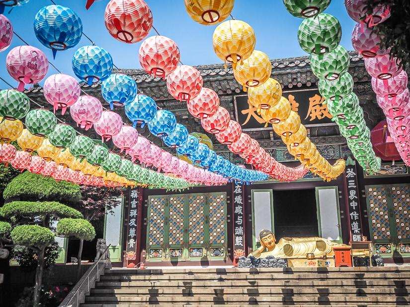 Daegaksa Temple (also known as Daegagsa Temple) in Gukje Market, Busan