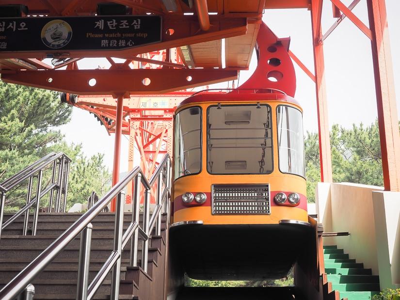 Geumgang Cable Car in Geumgang Park, Busan
