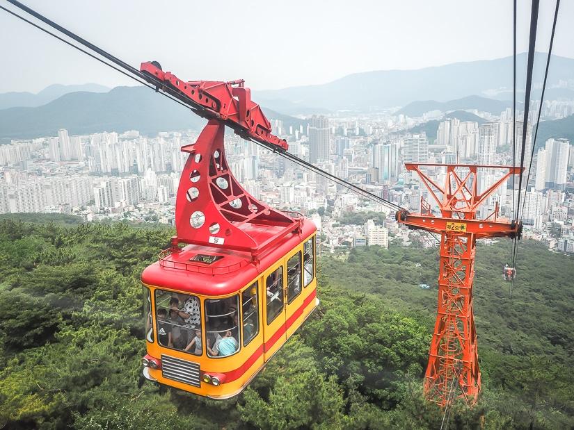 Geumgang Cable Car going up, Busan
