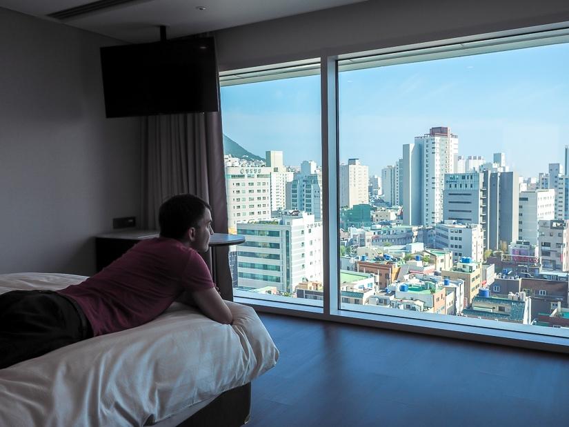 Standard double room at La Valse Hotel, Busan
