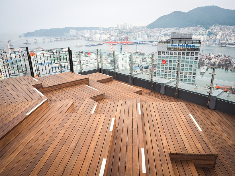 Sky29 rooftop at La Valse Hotel, Busan