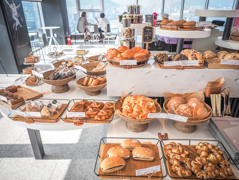Maxim's de Paris Cafe and bakery on 28th floor of La Valse Hotel