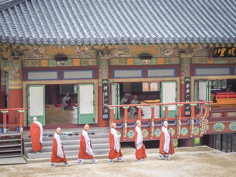 Monks at Beomeosa Temple, Busan