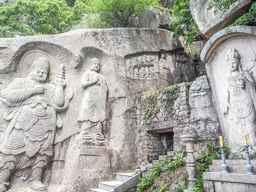 Rock carvings at Seokbulsa Temple
