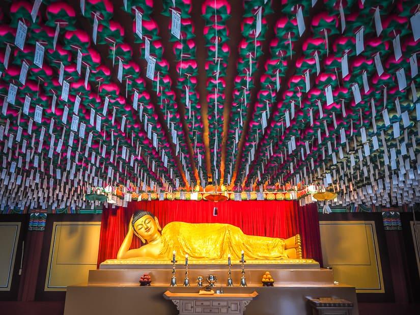 A shrine room at Haedong Yonggungsa