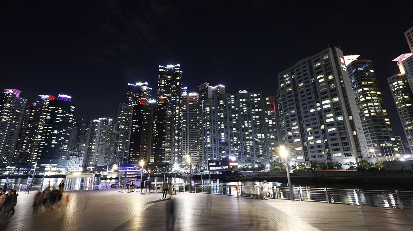 View from Bay 101 in Busan at night