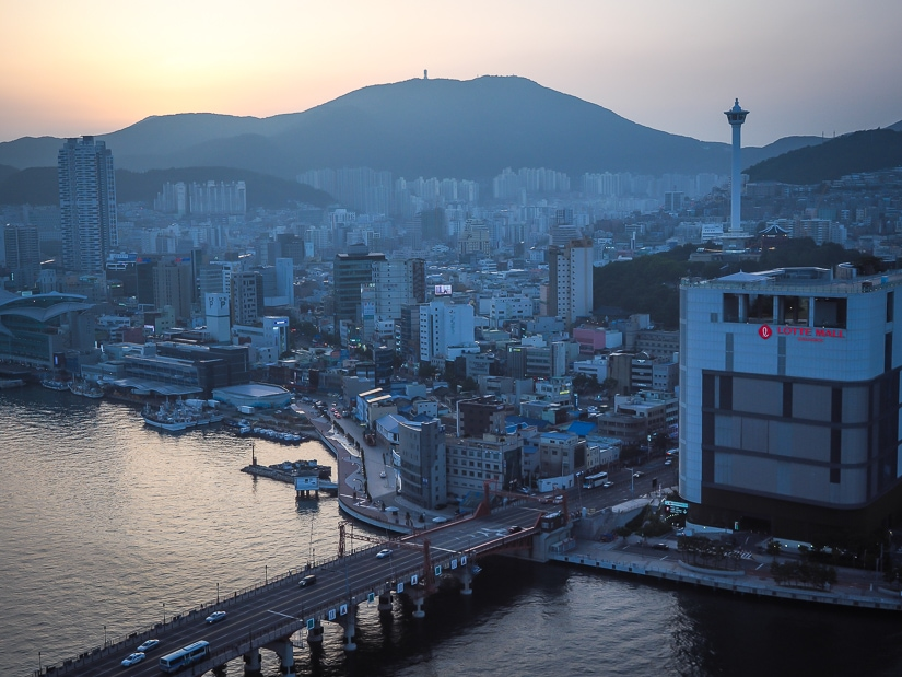 One of the best views of Busan, from La Valse Hotel