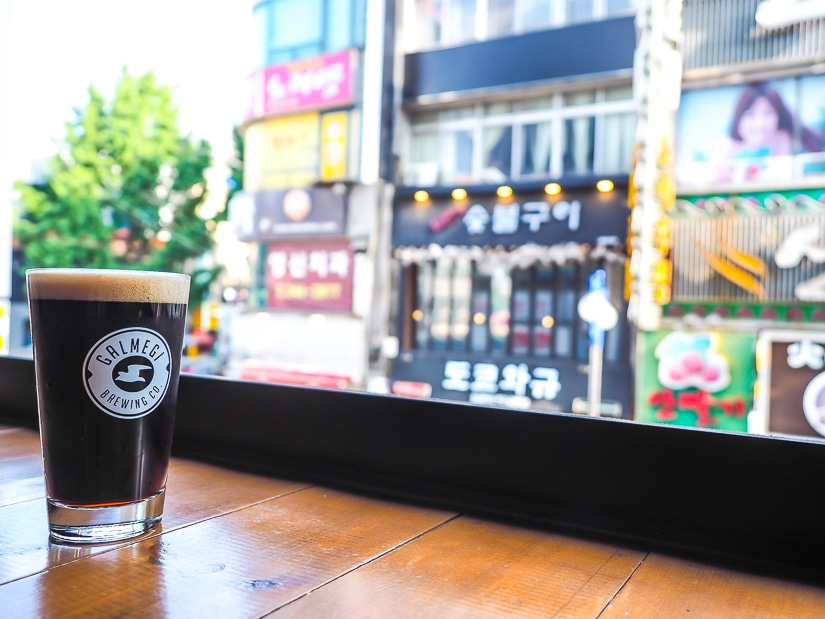 Galmegi Nampo, one of the best places to have craft beer in Busan