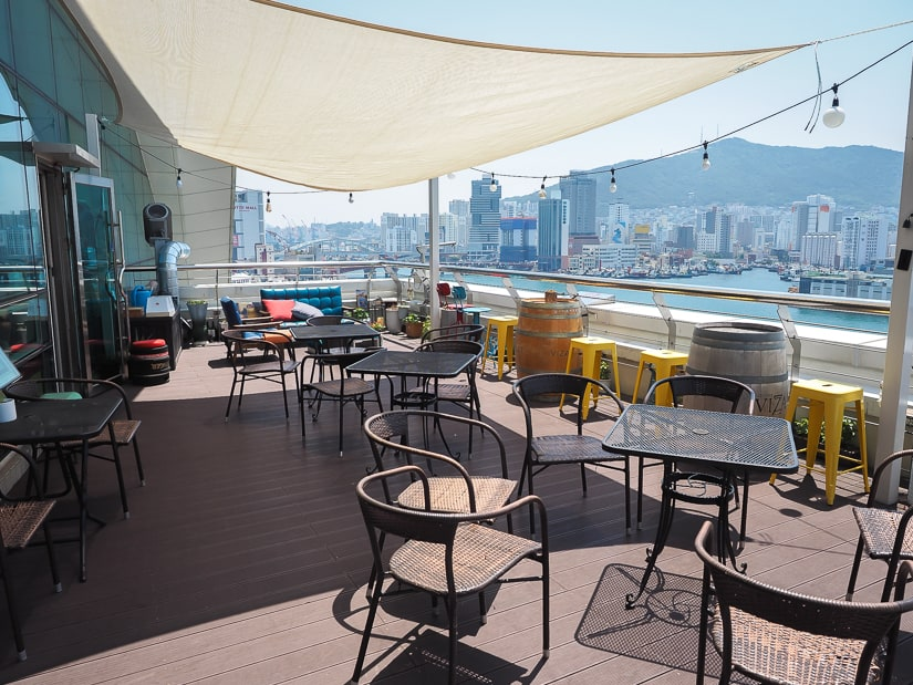 View from the rooftop of Jagalchi Market, one of the best views of Busan