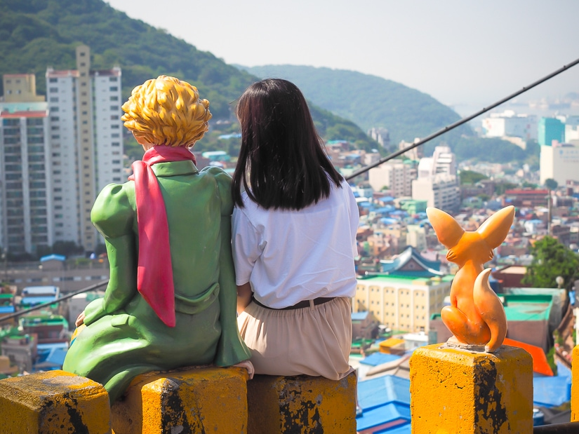 Little Price and Fox statues, one of the best instagram spots at Gamcheon Culture Village