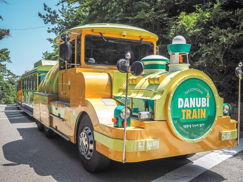 Danubi train in Taejongdae Resort Park